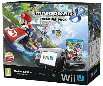 Nintendo Premium Pack Nintendo wiiu: Consola Wii U con Disco Duro de 32Gb + Juego Mario Kart 8 1 Unidad