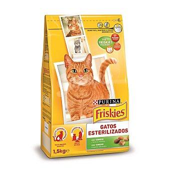 Friskies Purina Comida especial para gatos esterilizados 1,5 Kilogramos
