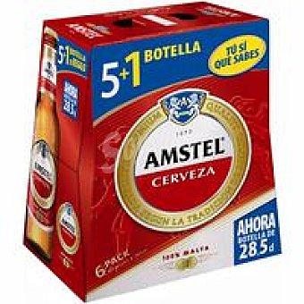 Amstel Cerveza Pack 5+1x28,5 cl