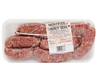 Montfoix Longaniza fresca oreada de cerdo 620 gramos aproximados