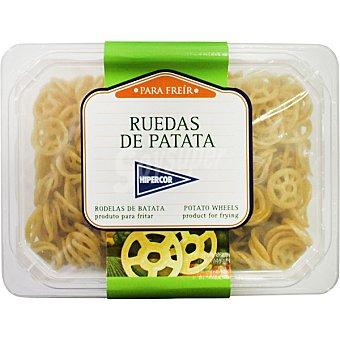 Hipercor Snack de ruedas de patatas para freír Tarrina 350 g
