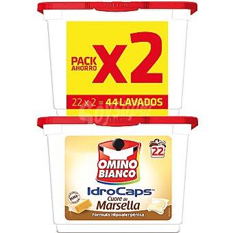 Omino Bianco Detergente máquina líquido con jabón natural de Marsella Pack 2 envase 22 capsulas