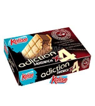 Kalise Helado sándwich adiction sin azucares añadidos Pack de 4x50 g