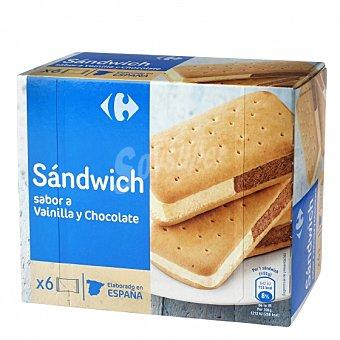Carrefour Sandwich de vainilla y chocolate Carrefour 6 ud
