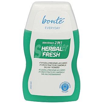 Bonté Dentífrico 2 en 1 herbal ayuda a prevenir la caries bote 100 ml Bote 100 ml