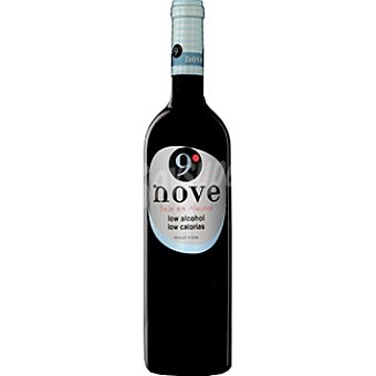 9º Nove Vino tinto 100% garnacha de Aragón bajo en alcohol Botella 75 cl