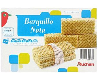 Auchan Barquillos Rellenos Sabor a Nata 500 Gramos