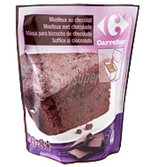 Carrefour Masa bizcocho chocolate 550 g