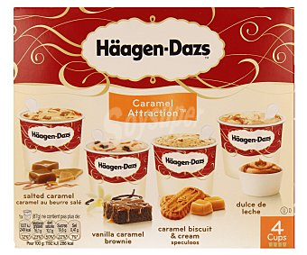 Haagen Dazs Helado Caramel Attraction Pack de 4x100 ml