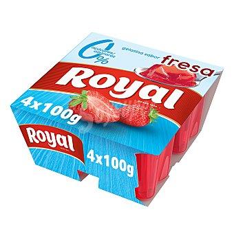 Royal Gelatina sabor fresa light Pack 4 unidades 100 gr