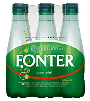 Fonter Agua con gas Pack de 6x33 cl
