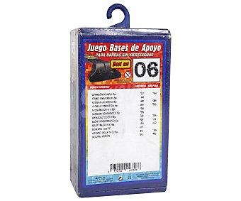 Rolmovil Juego de Bases de Apoyo para Barras de Transporte sin Vierteaguas, Número 6 1 Unidad