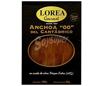 Lorea Anchoas del Cantábrico en aceite de oliva virgen 100 Gramos
