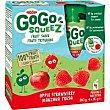Fruta triturada manzana-fresa 100% gogo squeez, doypack 4 x 90 g Gogo Squeez