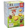 Mini galletas rellenas de chocolate chops choc caja 160 gr caja 160 gr DIA