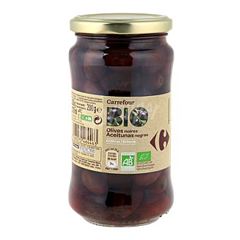 Carrefour Bio Aceitunas negras enteras 200 g