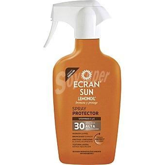 Ecran Lemonoil Broncea y protege spray protector con vitamina C y E FP-30 resistente al agua pistola 300 ml
