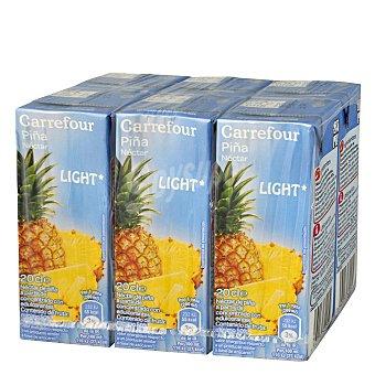 Carrefour Néctar piña light Pack 6x20 cl