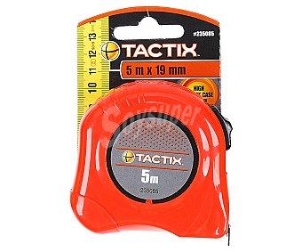 TACTIX Flexómetro con Bloqueo y Caja Fabricada en ABS , 5 Metros 1 Unidad