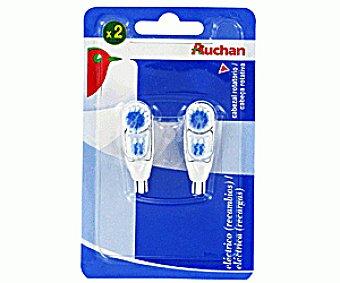 Auchan Recambio Cepillo Dental Eléctrico Pack 2 Unidades