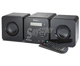 SELECLINE 857175 Micro cadena hifi con sintonizador de radio FM, lector de CD multiformato, puerto usb, y potencia de 7W