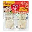 Flautas rellenas de pollo con queso cheddar y gouda wrap & go pack 2x137 g La Santiña