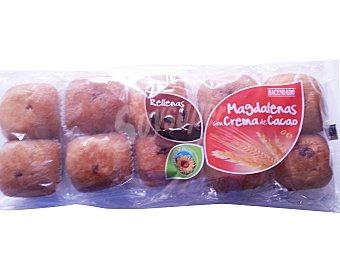 Hacendado Magdalena rellena chocolate industrial Paquete 375 g