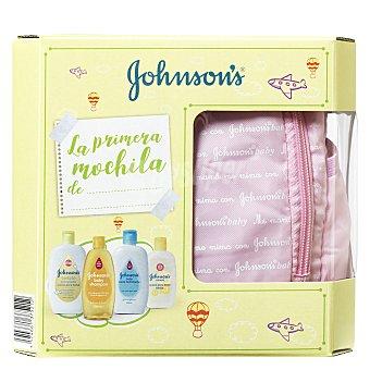 Johnson's Baby Mochila rosa de baño bebé (champú, loción, baño hidratante, colonia) Johnson's Baby 1 ud