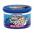 Tropical mini pellets alimento completo para peces tropicales British Bote 45 g King