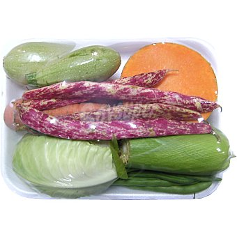 Verdura Potaje de peso aproximado bandeja 1 kg