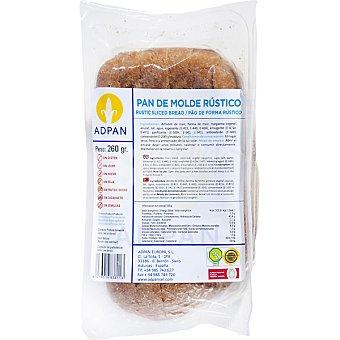 ADPAN pan de molde rústico sin gluten  envase 260 g