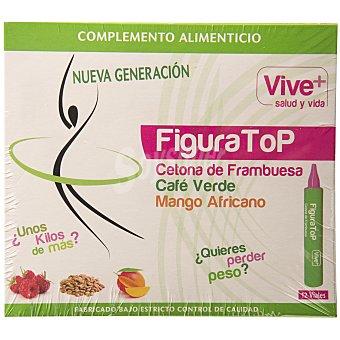 Vive+ Complemento alimenticio con cetona de frambuesa, café verde y mango africano 12 dosis