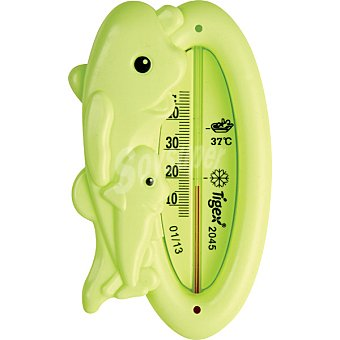 TIGEX Termometro de baño con forma de delfin en colores surtidos blister 1 unidad 1 unidad