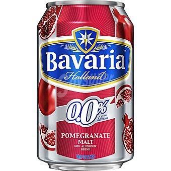 BAVARIA 0,0% cerveza sin alcohol malta-granada Holanda  lata 33 cl