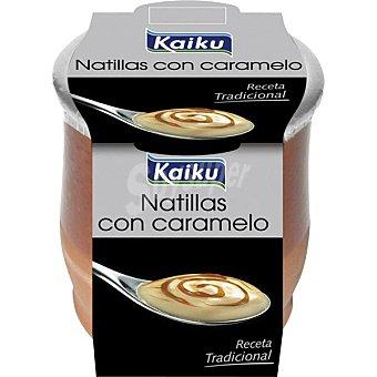 Kaiku natillas con caramelo envase 140 g