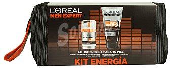L'Oréal Lote hombre men expert crema facial hidratante antifatiga hidra energic 50 ml + desodorante spray 200 ml 1 unidad