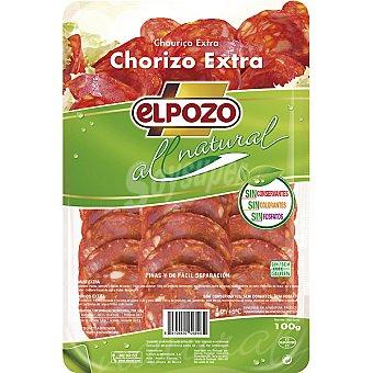 ElPozo Chorizo extra sin gluten All Natural Envase 100 g