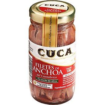 Cuca Filetes de anchoa del Cantábrico en aceite de oliva Tarro 60 g neto escurrido