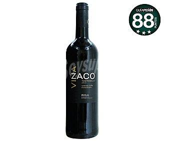 VIÑA ZACO Vino tinto tempranillo ecológico con denominación de origen Rioja zaco botella de 75 cl. Botella de 75 cl