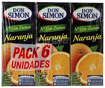 Don Simón Zumo de naranja Brik 6 Unidades