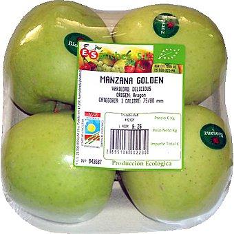 E.SANCHEZ Manzana golden ecológica Bandeja 700 g peso aprox.