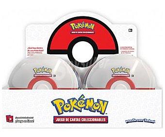 Pokemon Lata de cartas con forma de pokeball, pokemon