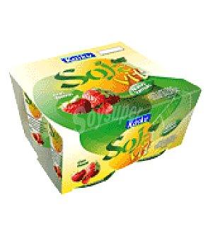 Kaiku Yogur bifidus sojavit con fresas Pack de 4x125 g