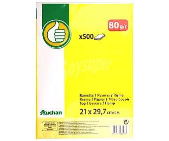 Productos Económicos Alcampo Paquete de 500 hojas de papel tamaño folio de 80 gramos 1 unidad