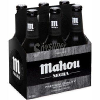 Mahou Cerveza negra Botellin pack 6 x 330 cc - 1980 cc