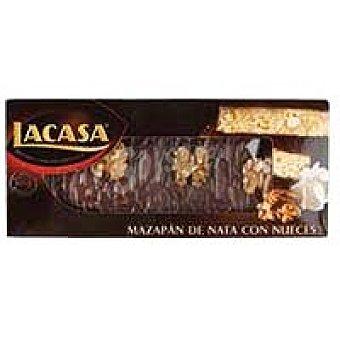 Lacasa Turrón de mazapán de nata-nuez Caja 300 g