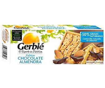 GERBLE Galletas de chocolate con almendra menos azucares envase 200 g