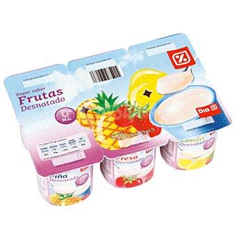 DIA yogur panache fresa/limón/piña pack 6 unidades 125 g