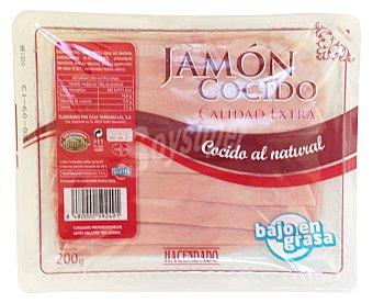 Hacendado Jamon cocido extra lonchas Paquete 200 g