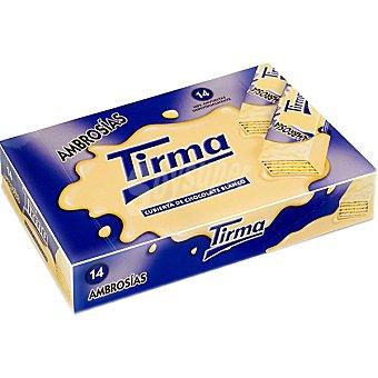 TIRMA Ambrosias Galletas de barquillo cubiertas de chocolate blanco estuche 308 g Estuche 308 g